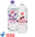 Harris TeeterSimply Clear      / 33.8 oz Save at Least45¢ on 5 / <span class='coupon-offer'>5/$3</span>