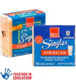 Harris TeeterCheese Singles      / 12 oz Item Rings atHalf Price / <span class='coupon-offer'></span>