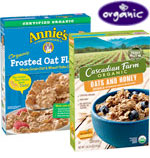 Annie's & Cascadian Farm Organic Cereal Select Varieties     / 10 oz Save Big! / <span class='coupon-offer'>2/$5</span>