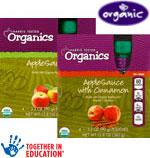 Harris Teeter OrganicsApplesauce      / 4 pack Save at Least98¢ on 2 / <span class='coupon-offer'>2/$5</span>