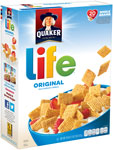 QuakerLife Cereal      / 18 oz Item Rings atHalf Price / <span class='coupon-offer'></span>