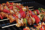Boneless Chicken Breast Kabobs with Vegetables