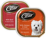 CesarDog Food      / 3.5 oz Save at Least$1.90 on 10 / <span class='coupon-offer'>10/$7</span>