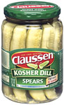 ClaussenKosher Spear Pickles      / 24 oz Save at Least30¢ each / <span class='coupon-offer'>$3.99</span>