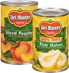 Del Monte Peaches, Pearsor Mixed Fruit      / 15 oz Save Big! / <span class='coupon-offer'>10/$10</span>