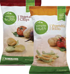 Simple TruthVegetable Chips or Sticks      / 6 oz Save Big! / <span class='coupon-offer'>2/$4</span>
