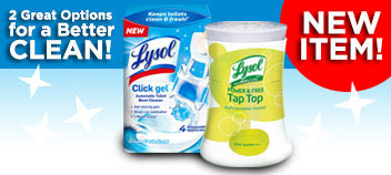 Two great options for a better clean with these NEW Lysol products!