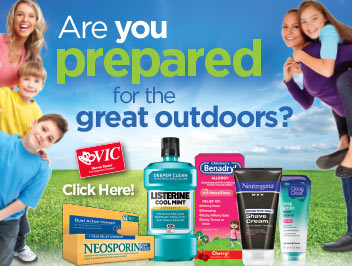 Are you prepared for the great outdoors? Click here for details.
