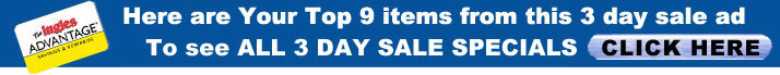 Click here to view all items from the 3 Day Sale online.